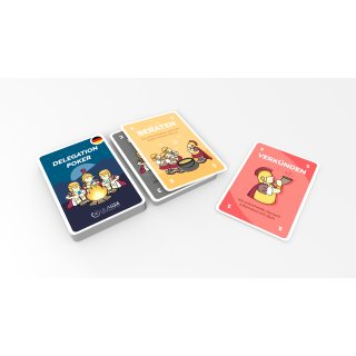 Delegation Poker Cards - GERMAN version - increase communication and productivity - for 7 people